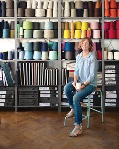 London-based designer Eleanor Pritchard sources Shetland lambswool from mills across the United Kingdom for her blankets, pillows, and upholstery. She designs the fabric patterns in her Deptford studio, near Greenwich, in a converted warehouse called Cockpit Studios. Photo by Christoffer Rudquist.