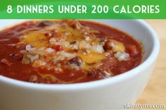 Keep dinner low-cal with these 8 Dinners Under 200 Calories! #lowcalorie #dinner #menu