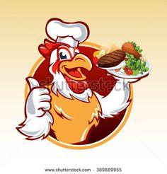 Cartoon chicken .