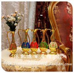 Vasos de flores pintura esmalte plano europeu simplicidade pastoral de lata com alças, Vaso de flor, Vasos decorativas HP007 em Vasos de Casa & jardim no AliExpress.com | Alibaba Group