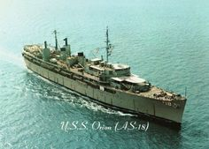 U.S.S. Orion, husband stationed on while in La Maddalena, Italy