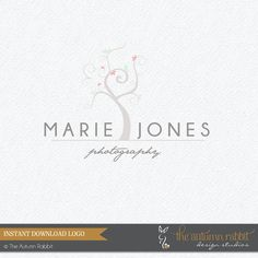 Premade customizable logo. INSTANT DOWNLOAD !! Perfect for photographers or small business boutique owners