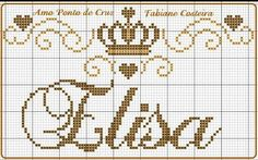 Silk Ribbon Embroidery, Hand Embroidery Patterns, Beading Patterns, Cross Stitch Numbers, Cross Stitch Letters, Counted Cross Stitch Patterns, Cross Stitch Designs, Art Hama, Crochet Letters