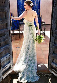 green wedding dresses | Trish in her Green Wedding Dress - Rancho Chiquita, Malibu