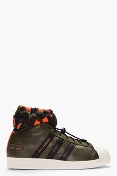 Y-3 Olive Camo Drawstring Snow Model Sneakers for men | SSENSE yohji yamamoto addidas orange green navy