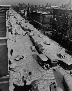 View of Eighth Ave. after the Blizzard of 1947 in New York.
