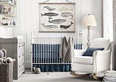 63 Rustic Baby Boy Nursery Room Design Ideas - About-Ruth Nautical Baby Nursery, Boy Nursery Colors, Whale Nursery, Nursery Design, Nursery Themes, Nursery Room, Nursery Ideas, Navy Nursery, Ocean Nursery