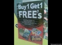 Apostrophe error--- Buy 1 Get 1 Free