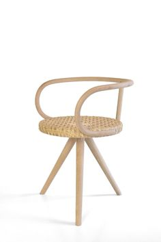 Hand crafted rattan chair. Locally designed and produced by Jonghlabel in Amsterdam.