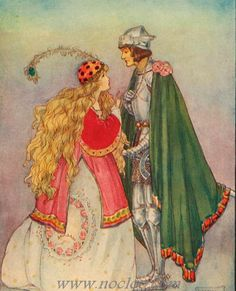 HARRISON, Florence Susan English Art Nouveau, Pre-Raphaelite illustrator (1877-1955)_Illustrations from the First edition of Valentine and Orson