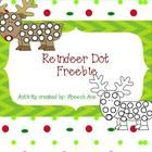 Free! Reindeer Dot Cover or dauber fun reinforcer…color/black and white included.