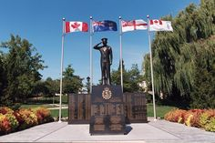 The Royal Canadian Naval Ships Memorial Monument faces Lake Ontario at Spencer Smith Park in Downtown Burlington Ontario. It honours the memory of the Canadian Ships and Sailors who served during the Second World War.