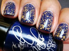 Will support my boy even if against my true colors... Blue and Gold Nail Polish- milwaukee brewer nails! Want!