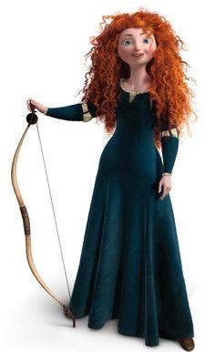 Merida en version originale, telle qu'elle apparaît dans le film