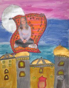 3rd grade India architecture.  Website has a clip of magic carpet from Aladdin.