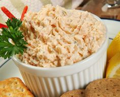 A cool and refreshing shrimp dip that is fast and easy to prepare, perfect for summer cook-outs and picnics! A cool and refreshing shrimp dip that is fast and easy to prepare, perfect for summer cook-outs and picnics! Appetizer Dips, Yummy Appetizers, Appetizer Recipes, Party Appetizers, Party Recipes, Summer Recipes, Holiday Recipes, Seafood Dip, Shrimp Dip