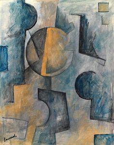 Emanuel Ologeanu art -cubist painting Sunrise