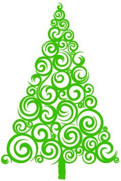Christmas Tree Vinyl Decal - hang the ornaments with blue tape?