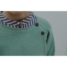 Lililotte - Pull tricot vert Clément
