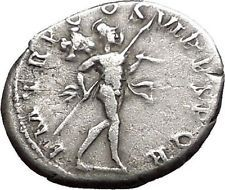 Trajan 114AD Authentic Ancient Silver Roman Coin Mars War God i55716