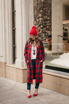 Red Plaid Coat - www