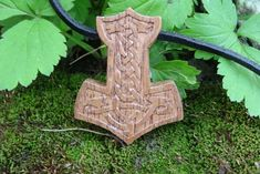 Wooden Thors hammer pendant.  Size: 1.57* 2.16 inches (40*55 mm)  A great gift for your own Thor! (boyfriend, husband, brother or friend))  Сover with acrylic lacuer