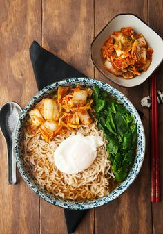 Kimchee Ramen with homemade kimchi recipe Kimchi Recipe, Eastern Cuisine, Asian, Korean Food, Fritters, Other Recipes, Recipe Using, Ramen, Yum Yum