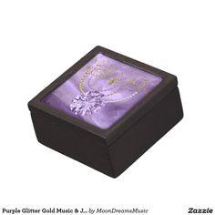#PurpleGlitterGoldMusic&Jewels #SmallWoodenTrinketBox by #MoonDreamsMusic