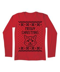 Another great find on #zulily! Red 'Meowy Christmas' Tee - Women #zulilyfinds