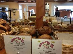 When Pigs Fly Bread Company (Freeport, Maine) | Try before you buy: they offer samples of all their delicious breads!