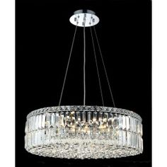 10 Light contemporary round crystal chandelier