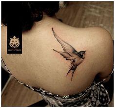#swallow #bird #cute #beautiful #girlstattoo #backtattoo #tattoo #leotattoos #Matunga #Mumbai #India