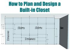 How to plan and design a walk in closet - Sawdust Girl® Master Closet Design, Walk In Closet Design, Master Bedroom Closet, Closet Designs, Girls Bedroom, Bedrooms, Bedroom Ideas, Master Suite, Master Bathroom