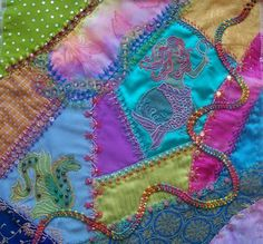 crazy quilting. This is what @Kate wants (but not those colors)! I will learn...