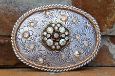Womens Vintage Embellished Belt Buckle Bling by DezignsbyEstee Embellished Belts, Suspender Clips, Jewelry Box, Unique Jewelry, Hat Pins, Cowgirls, Belt Buckles, Bling, Brooch