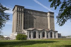 Michigan Central Station, built in 1913 for the Michigan Central Railroad, was Detroit, Michigan's passenger rail depot from its opening in 1913. At the time of its construction, it was the tallest rail station in the world.   Restoration of Michigan Central Station is seen as an important project for the economic development of the City of Detroit.