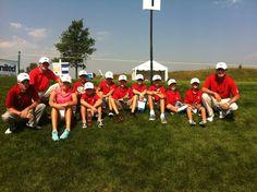 Junior Golfers of Evansville Country Club at the United Leasing Championship, June 2012  #PGA #golf #kids #juniorgolf #ECC #CountryClub #Sports