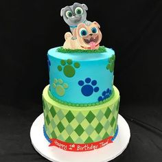Puppy Dog Pals Cake Cash Is Two In 2019 Pinterest Puppy