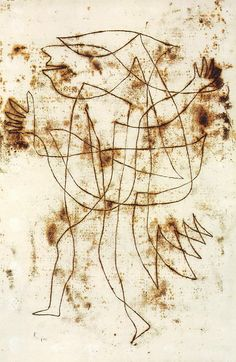 Paul Klee (Swiss: 1879 -1940), Small Fool in trance (Kleiner narr in trance) , 1927.