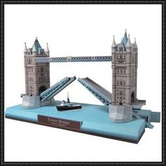 This Architecture/Building Paper Model is the Tower Bridge in London, England. This paper model is designed by canon papercraft. Tower Bridge (built 1886-1