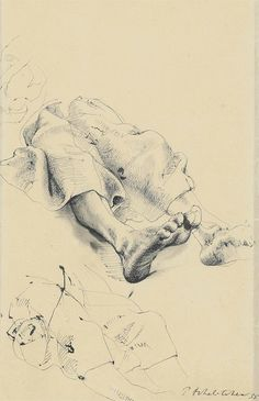 Pavel Tchelitchew (Russian, 1898-1957), Sketch for Feet, 1935. Ink on paper, 46.1 x 28.2 cm.