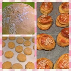 Bryndzové pagáče • recept • bonvivani.sk Hamburger, Biscuits, Muffin, Bread, Breakfast, Food, Basket, Crack Crackers, Morning Coffee