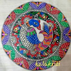 Madhubani Paintings Peacock, Kalamkari Painting, Madhubani Art, Indian Art Paintings, Gond Painting, Tanjore Painting, Mural Painting, Fabric Painting, Hand Painted Fabric