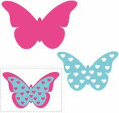 Silhouette Design Store - View Design #62030: heart layered butterfly embellishment