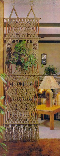 Vintage Macrame Patterns Hangings Wine Holder Vessels Tables Room Divider Turtle Wall Hanging Home Decor PDF e Pattern Instant Download