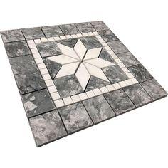 Bard igloo and Dolomite Marble Medallion Mosaic www.wholetiles.com #deco #homedecor #home #interiordesign #design #wholetiles #bathroom #shower #kitchen #interior #medallion Mosaic Wall Art, Mosaic Tiles, Marble Price, Patio Flooring, Entryway Flooring, Marble Polishing, Tile Stores, Best Kitchen Designs, Floor Design