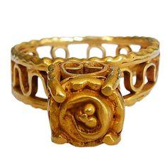 Byzantine Architectural ring. Byzantine empire  c. 7th-8th