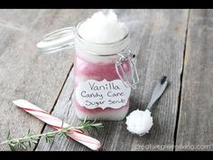 Vanilla Peppermint Candy Cane Sugar Scrub - Creative Green Living