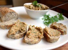 Veganmisjonen: Linsepostei med gressløk Baked Potato, Banana Bread, Vegetarian Recipes, Muffin, Good Food, Eat, Breakfast, Ethnic Recipes, Desserts