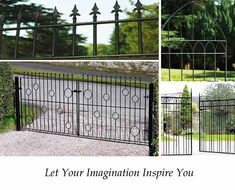 Examples of driveway gates in a range of styles